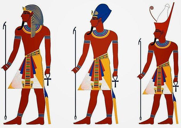 Firavunlar saçlarının görünmesini istemezler bu yüzden de başlarına bir taç ya da 'nemes' adında bir başlık takarlardı.