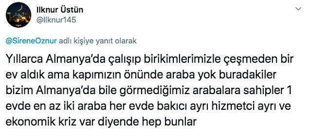Gurbetçiler de bunu kabul etmeyip Türkiye'deki insanların kendilerinden daha iyi yaşam şartlarına sahip olduklarını söyleyerek ekonomik kriz olduğuna inanmıyor.