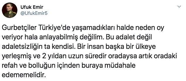 """Tüm yapılan bu tartışmalar da """"gurbetçiler oy kullanmasın!"""" sonucuna bağlanıyor. Hatta bir tık daha ileri giderek Türk vatandaşlığından çıkarılmaları gerektiğini düşünenler bile mevcut."""