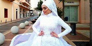 Beyrut'taki Patlamaya Düğün Fotoğrafı Çektirirken Yakalanan Gelin Konuştu: 'Şimdi Ölüyorum Diye Düşündüm'