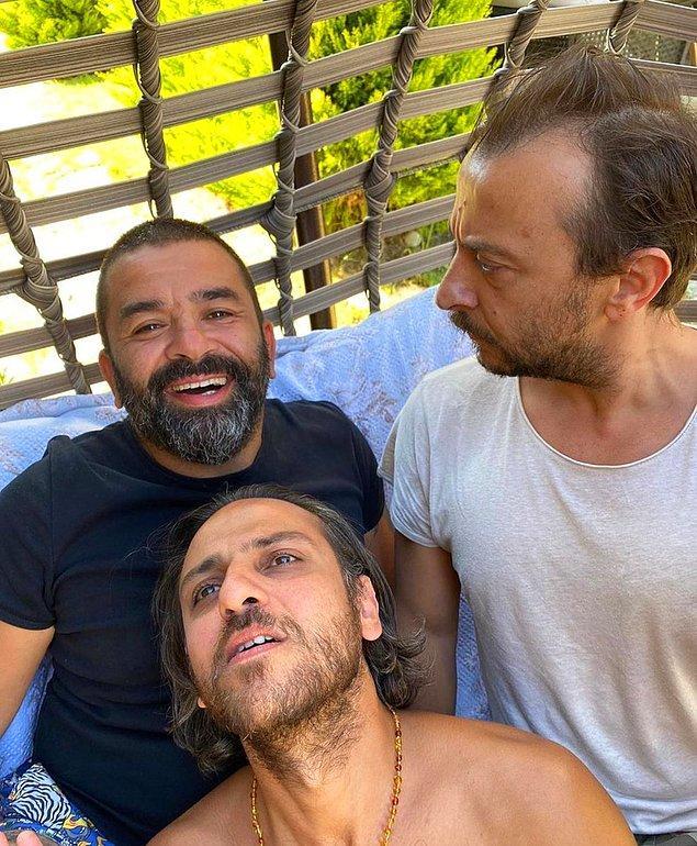 7. Bülent Şakrak, Ali Atay ve Erkan Kolçak Köstendil, oğullarıyla bu pozu verdi!