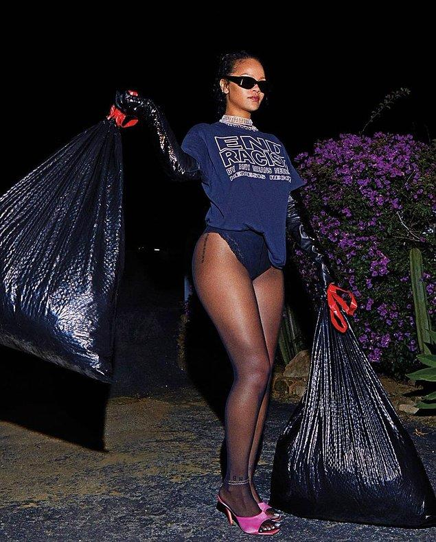 9. Rihanna'nın Harper's Bazaar dergisinin Eylül sayısına verdiği pozlar çok konuşuldu!