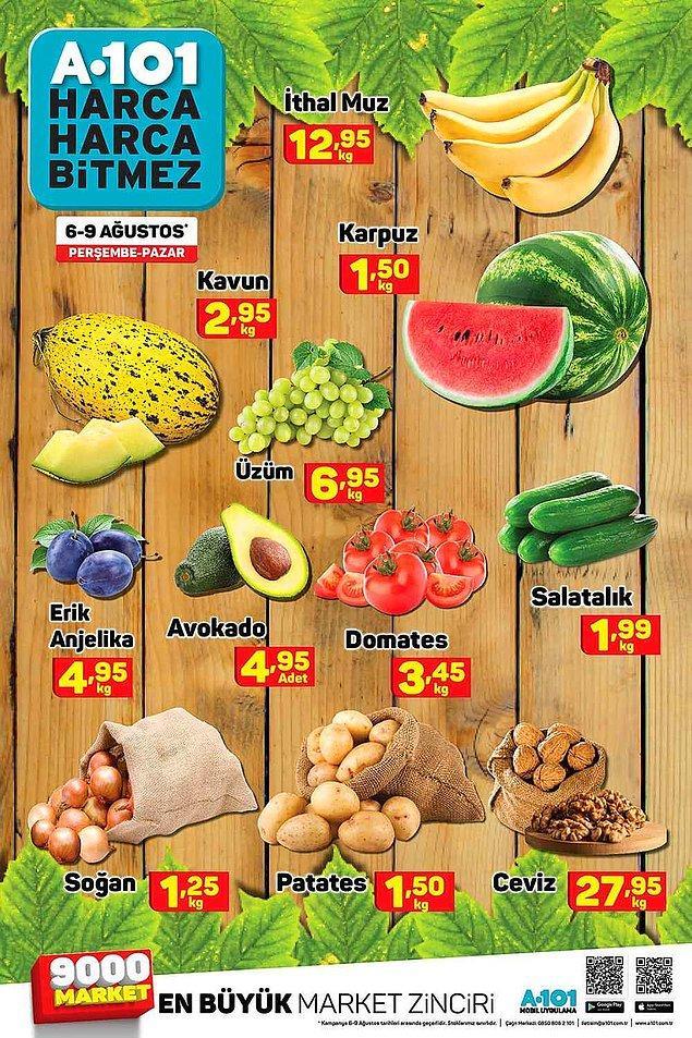 6-9 Ağustos (Perşembe-Pazar) günleri ise meyve ve sebze günü.