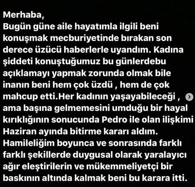 Çıkan bütün bu iddiaların ve haberlerin ardından Tülin Şahin bugün Instagram hesabından bir açıklama paylaştı: