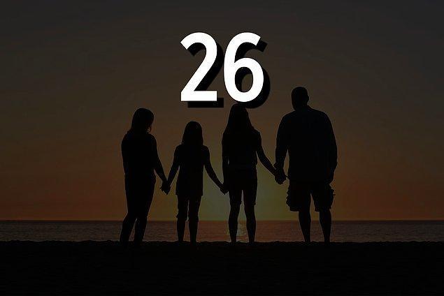 26 yaşında ebeveyn olacaksın!