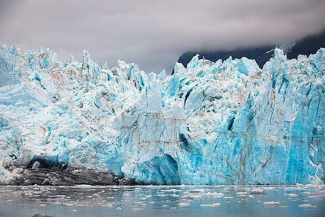 14. Binlerce yıldır oluşan buzullar.