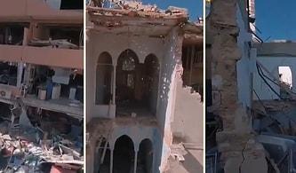 Beyrut'taki Patlamanın Ardından Yıkımın Boyutlarını Gözler Önüne Sermek Adına Kullanılan Haber Drone'unun Kaydettiği Görüntüler