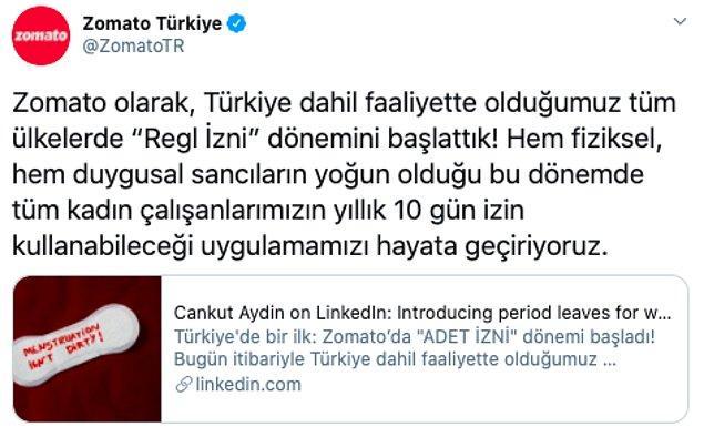 Ardından Zomato Türkiye'nin resmi Twitter hesabı ve Türkiye Ülke Müdürü Cankut Aydın da bu uygulamanın Türkiye dahil, faaliyette bulundukları tüm ülkelerde hayata geçirileceğini açıkladı.