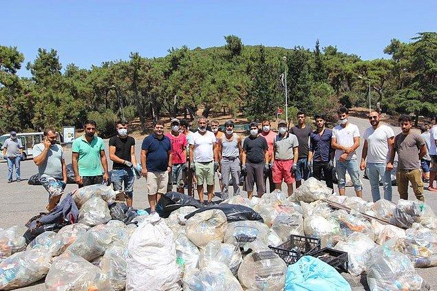 Fotoğraflardan da görebileceğiniz gibi tüm plajlar, ormanlık alanlar hatta sokaklar ve caddeler günübirlik ziyaretçilerden kalma bu çöp yığınlarından nasibini almış.