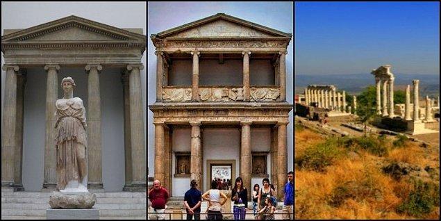 8. Bergama akropolünün en önemli mekanı ise bilgelik ve savaş Tanrıçası Athena'nın Tapınağı idi...