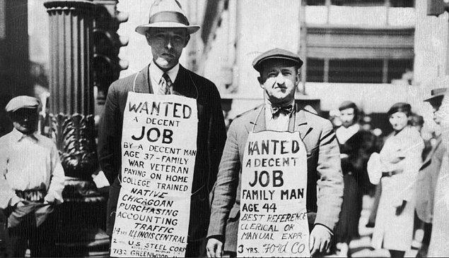 1929 Büyük Buhran yılları