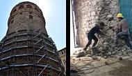 İBB'nin Himayesinden Alınmıştı: Galata Kulesi'nde Skandal 'Restorasyon' Görüntüleri