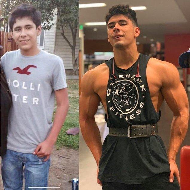 """7. """"Soldaki 15 yaşımda çektirdiğim ilk fotoğraf ve sağdaki 21 yaşındaki halim."""""""