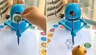 Kendisine Gösterilen Kart Üzerindeki Şekli Hem Çizen Hem de Nasıl Çizileceğini Gösteren Robot