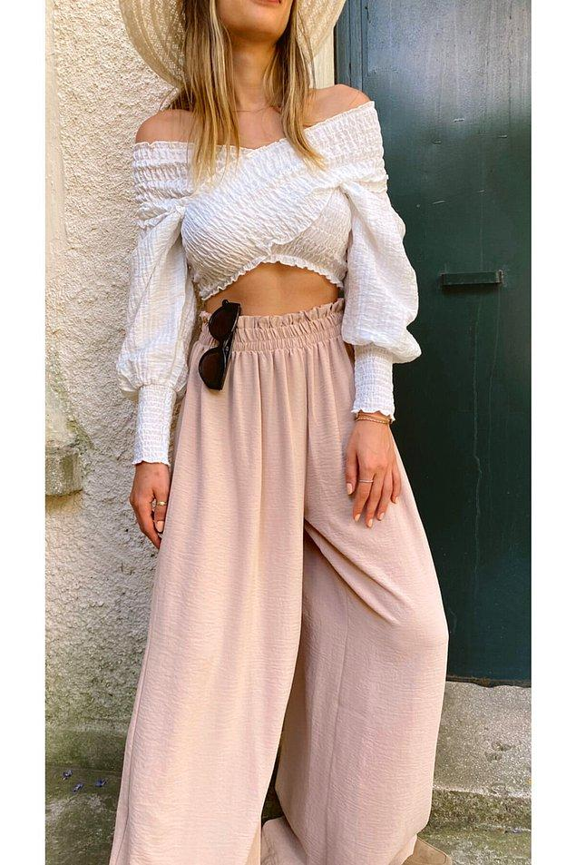 Tarzınız Gülnihal'e yakınsa şanslısınız çünkü aşağıdaki linkte harika pantolonlar ve crop top'lar var.