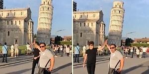 Pisa Kulesi ile Hatıra Fotoğrafı Çektiren Dayının Eline Beşlik Çakan Adam