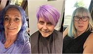 Renkli ve Marjinal Saçlar Gençlere Özeldir Algısını Yıkarak Sosyal Medya Üzerinden Yeni Tarzlarını Herkesle Paylaşan Yetişkin 15 Kadın