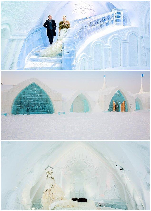 Gelinin hazırlandığı oda bile buzdan!