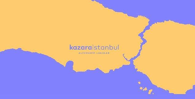 Kazara İstanbul, İstanbul hakkında hiçbir fikri olmayan bir tasarımcıdan yalnızca ismini bildiği bazı ilçe ve semtler için logo çalışması yapmasının istendiği bir kompozisyon itibariyle ortaya çıkıyor.