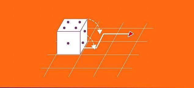 5. ASCII tablosunda büyük X harfinin 88 sayısına denk geldiğini bilerek sondan ikinci soruya geldin! Zarı görselde görünen rotada ve şekilde kırmızı oklu kareye götürürsek, üst kısımdaki sayı kaç olur?