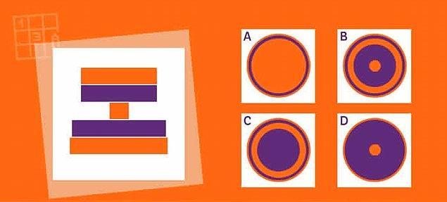 6. Tebrikler, son sorudasın! Soldaki cisme tam tepesinden baksaydık, sağda verilen seçeneklerden hangisindeki gibi gözükürdü?