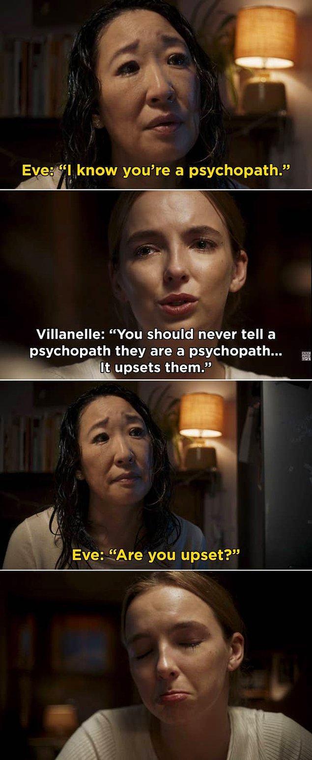 13. 'Killing Eve'de, Villanelle'in ilk kez Eve'in evine zorla girdiği sahne.