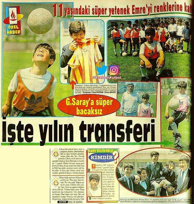 Burada 2 sene forma giyen Emre, Galatasaray tarafından keşfedildi ve Galatasaray'ın yolunu tuttu.