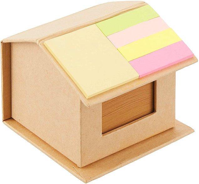 14. Bu ev şeklindeki notluk gerçekten çok kullanışlı.