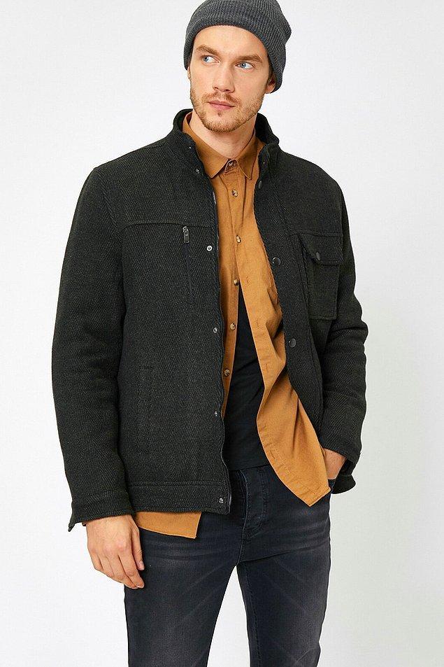10. Oldukça tarz bir ceket bence. Hem günlük hem işe giderken kullanılabilir.