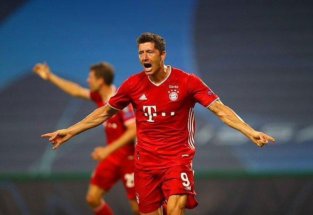 Robert Lewandowski, bu sezon oynadığı tüm Şampiyonlar Ligi maçlarında gol attı.