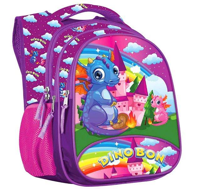 9. Tatlı mı tatlı dinozor resmiyle aşırı kullanışlı bir okul çantası.