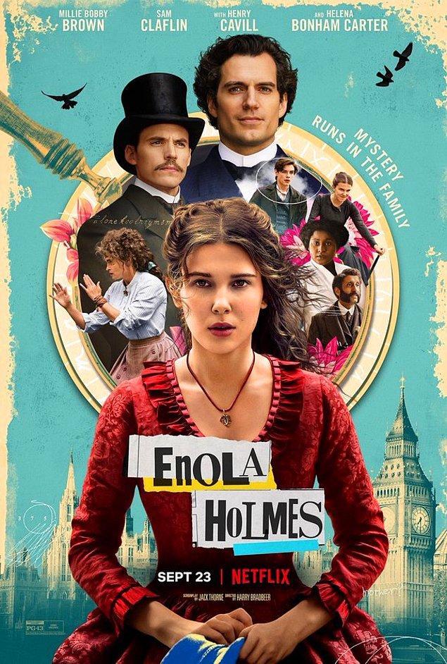 6. Millie Bobby Brown'ın Sherlock Holmes'un kız kardeşini canlandırdığı Enola Holmes filminin afişi yayınlandı.