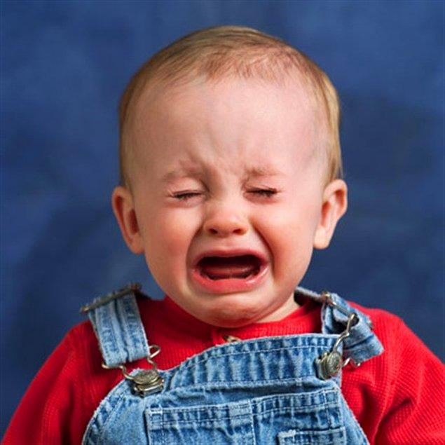 21. Durmadan ağlayan çocuk DURMADAN ama DURMADAN!
