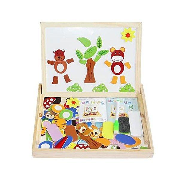 9. Bu mıknatıs setle çocuklar yazma ve okuma becerilerini eğlenceli şekilde geliştirebilir.