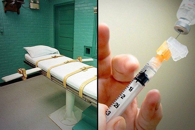 Bu aşamadan sonra mahkumun her iki koluna da intravenöz kanül yerleştirilir.