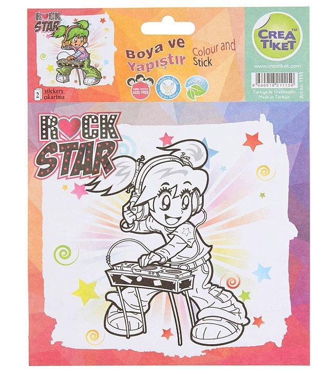 7. Bu boya yapıştırlarla çocuğunuz kendi eserini okuluna taşıyabilir.