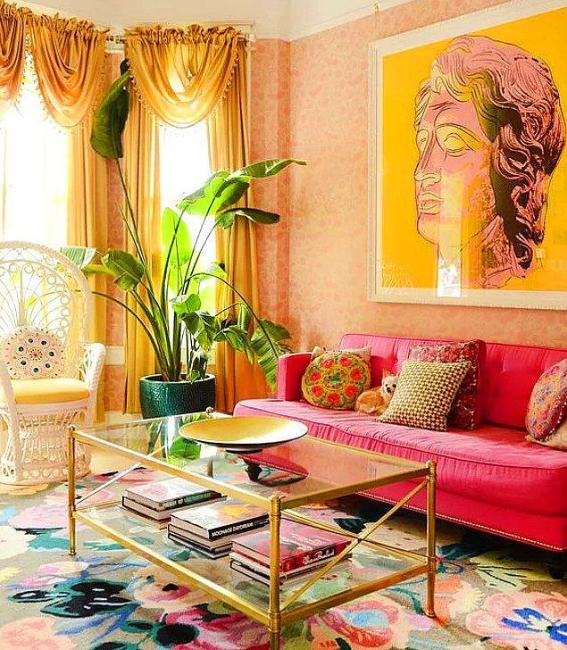 Eklektik tarzda bir alan planlarken renklerin, dokuların ve desenlerin hangi görünümü ortaya çıkaracağını kestirmek kolaydır.