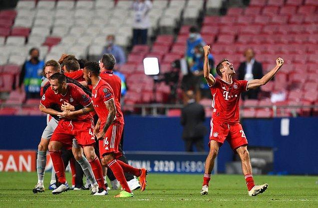 Bayern Münih, Şampiyonlar Ligi'nde bu sezon oynadığı tüm maçları kazandı ve kupaya uzandı.