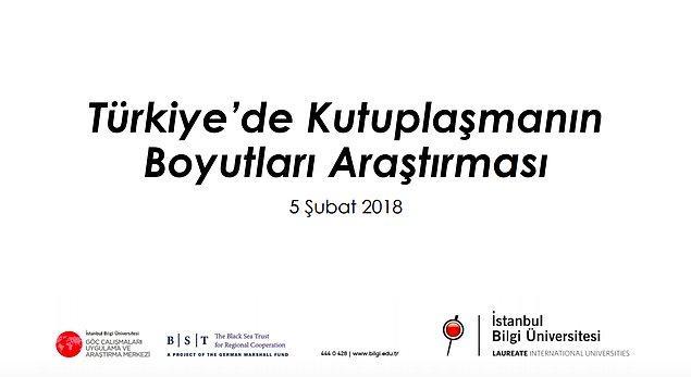 """İstanbul Bilgi Üniversitesi toplumun kendilerine en uzak hissettikleri siyasi parti taraftarlarıyla ilgili tutumlarını gözler önüne seren """"Türkiye'de Kutuplaşmanın Boyutları Araştırması"""" başlıklı bir çalışma yayınlamıştı."""