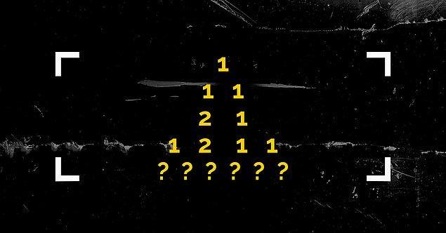 2. Doğru cevabı buldun ve ikinci soruya geldin. Bu satırlar halindeki sayı dizisi, bir kuralı takip ediyor. O kuralı anlayıp son satıra gelmesi gelen rakamları söyleyebilir misin?