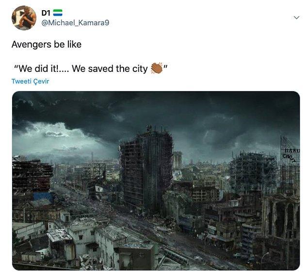 """15. """"Avangers: 'Başardık!..... Şehri kurtardık"""""""