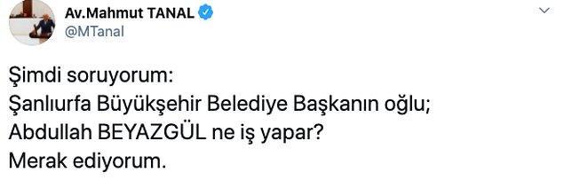 Son olarak ise Tanal, Twitter hesabından şu soruyu sordu: