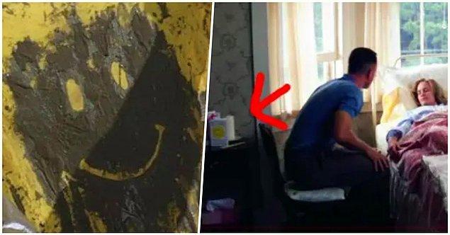 9. 'Forrest Gump'ta Forrest Jenny'nin başucundayken komodinin üzerinde duran gülen yüzlü kart, filmin başında ona ilham veren tasarımla aynıdır.