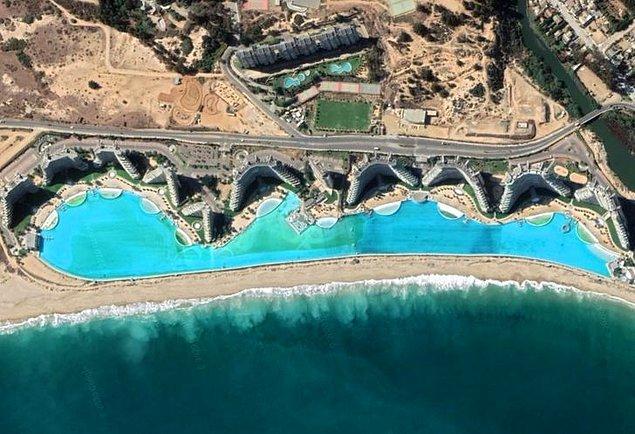9. Şili, San Alfonso del Mar'daki dünyanın en büyük yüzme havuzu.