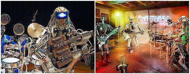 9. Müzik Robotları: Compressorhead ve Z-Machines
