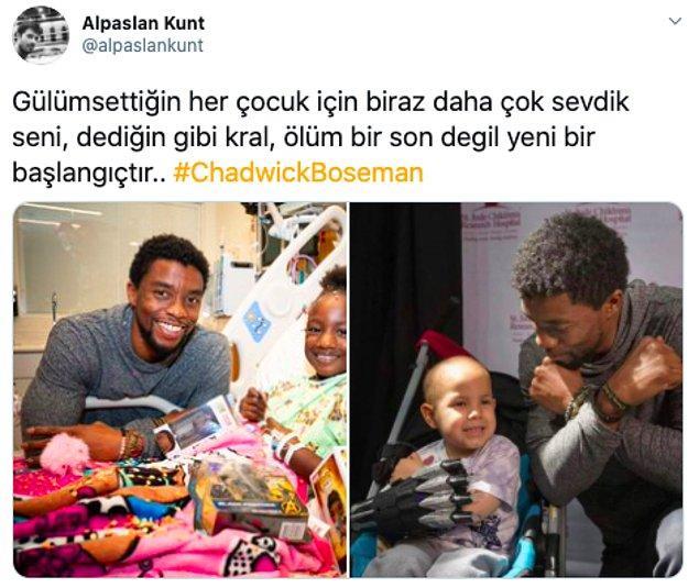 Boseman'ın ölüm haberinin ardından Türk hayranları da sosyal medyada üzüntülerini dile getirdi.👇