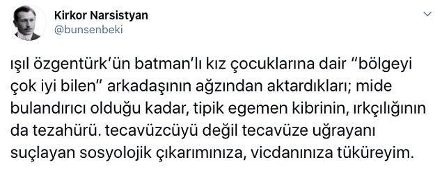 Batmanlı aileler hakkında Işıl Özgentürk'ün yer verdiği bu ifadeler tepkilere yol açtı. İşte o paylaşımlar...
