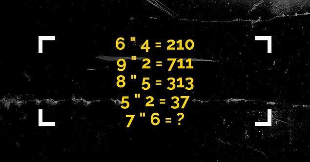 1. İlk soruyla başlıyoruz. İlk 4 basamakta nasıl bir işlem yapıldığını çöz ve son basamakta soru işareti yerine ne gelmeli söyle!