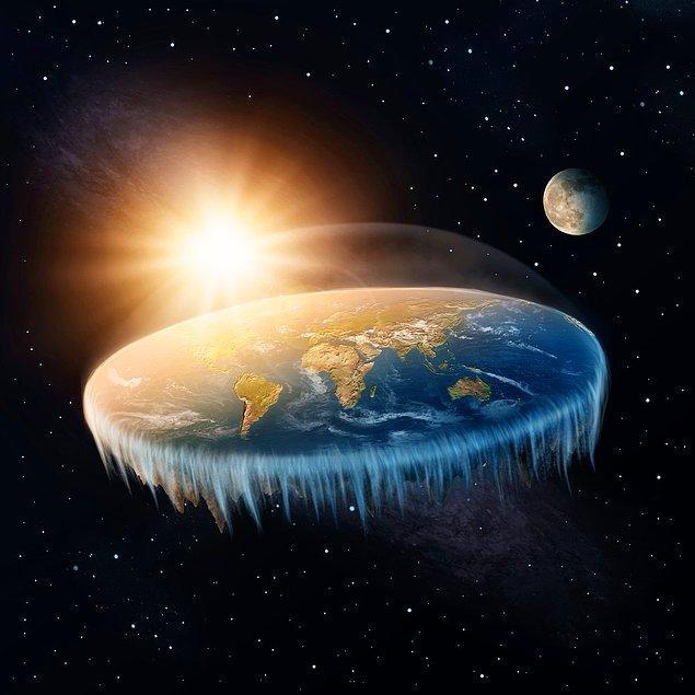 """2. Bunca zamana kadar yapılan araştırmaları, teorileri ve bilimsel gerçekleri hiçe sayarak """"Dünya yuvarlaksa niye düşmüyoruz o zaman?"""" gibi argümanlarla dünyanın düz olduğunu iddia edenler, kusura bakmayın ama CAHİLDİR!"""