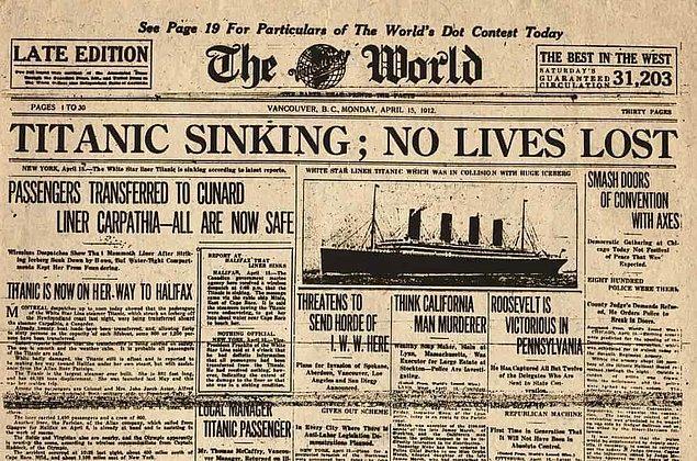 7. Gazetelerde yer alan ilk haberde hiç can kaybı olmadığı yazılmıştı...